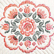 Quilted Centerpiece Art Print