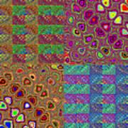 Quilted Fractals Art Print