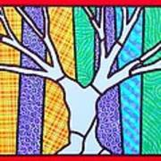 Quilted Winter Tree Art Print