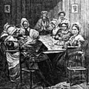 Quilting Party, 1864 Art Print