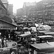 Quincy Market From Faneuil Hall - Boston - C 1906 Art Print