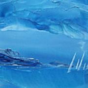 Racing Sailboats Art Print by Danita Cole