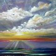 Radiance - Square Sunset Art Print