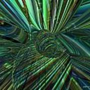 Radiant Digital Floral Fx  Art Print