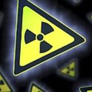 Radiation Warning Signs, Artwork Art Print