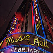 Radio City Music Hall Art Print by Benjamin Matthijs