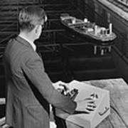 Radio-controlled Model Tug, 1955 Art Print
