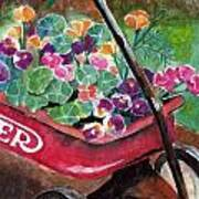 Radio Flyer Garden Art Print