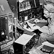 Radio Operator Operates His Scr-188 Print by Stocktrek Images