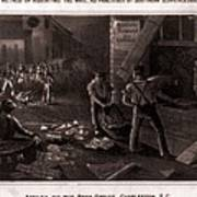 Raid On The Charleston Post Office Art Print by Everett