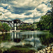 Rail Swing Bridge Art Print