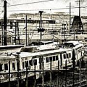 Rail Yard Blues Art Print