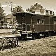 Railroad Car And Wagon Art Print