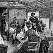 Railroad: Dining Car, 1880 Print by Granger