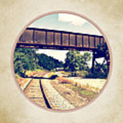 Railroad Tracks And Trestle Art Print