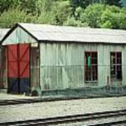 Railroad Woodshed 2 Art Print