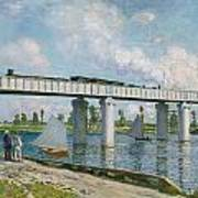 Railway Bridge At Argenteuil Art Print
