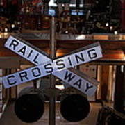 Railway Crossing Art Print
