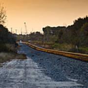 Railway Into Town Art Print