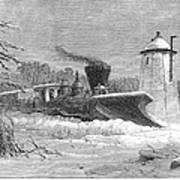 Railway Snow Plough, 1862 Art Print