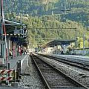 Railway Station West Interlaken Switzerland Art Print