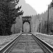 Railway Track Art Print