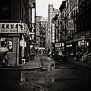 Rain - Pell Street - New York City Art Print