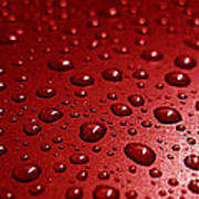 Rain Drops Bloody Red  Art Print