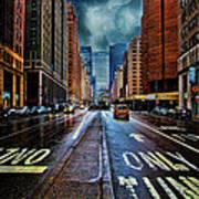 Rain On Park Avenue Art Print