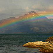 Rainbow At The End Of The World  Art Print