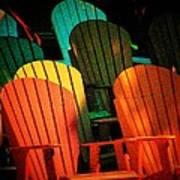 Rainbow Chairs Art Print