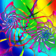 Rainbow Eyes Art Print