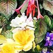 Rainbow Flower Basket Art Print