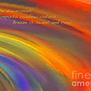 Rainbow Haiku Art Print