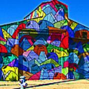 Rainbow Jug Building Print by Samuel Sheats