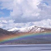 Rainbow Over A Lake Art Print