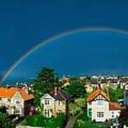 Rainbow Over Housing, Monkstown, Co Art Print