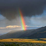 Rainbow Over Lamar Valley Art Print by Yvonne Baur