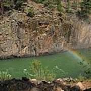 Rainbow Over The Creek Art Print