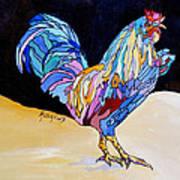 Rainbow Rooster Art Print