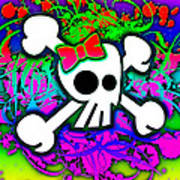 Rainbow Skull 1 Of 6 Art Print