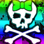 Rainbow Skull 4 Of 6 Art Print