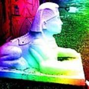 Rainbow Sphinx Art Print