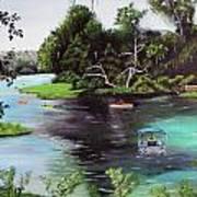 Rainbow Springs In Florida Art Print