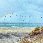 Rainbows And Wings II Art Print