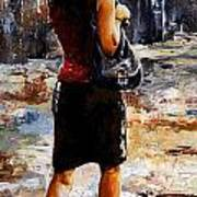 Rainy Day - Woman Of New York 04 Print by Emerico Imre Toth