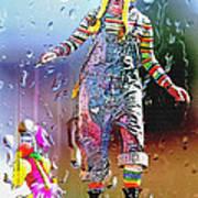 Rainy Day Clown 3 Art Print by Steve Ohlsen