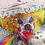 Rainy Day Clown Art Print