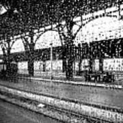 Rainy Departure Art Print