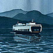 Rainy Ferry Art Print